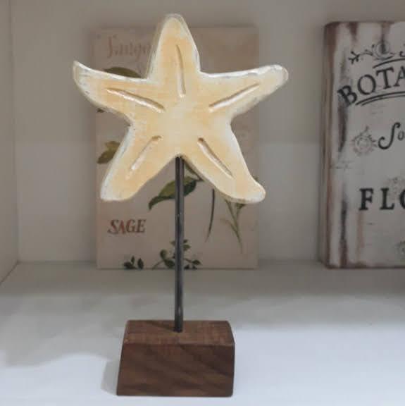 Estrella de mar artesanal en madera