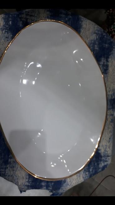 Plato Oval Blanco Grande
